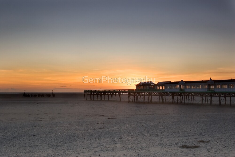 SUNSET AT LYTHAM PIER by GemPhotography