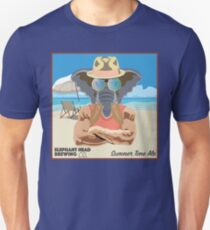 Elephant Head Summer Time Ale Design T-Shirt