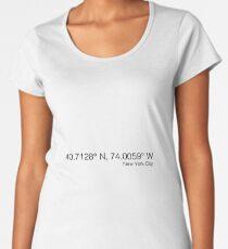New York City Coordinates Women's Premium T-Shirt