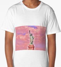 Pink Statue of Liberty  Long T-Shirt