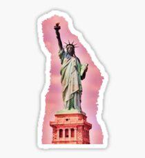 Pink Statue of Liberty  Sticker