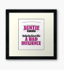 They Call Me Auntie Partner In Crime Funny Framed Print