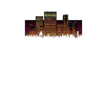 Retro City Skyline by 101Force