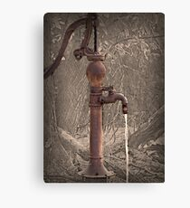 Antique Water Pump Canvas Print