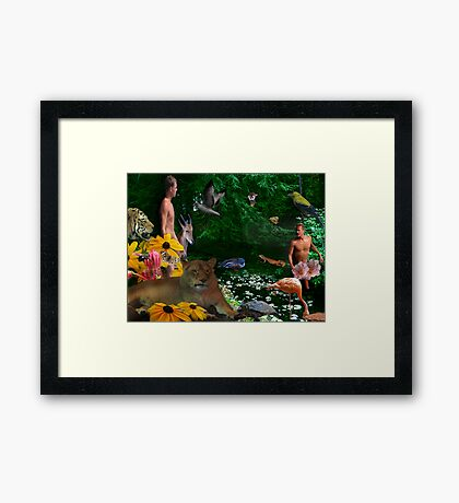 Eden, Day One Framed Print
