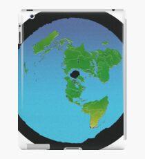 Flat Earth Map - BACK TO BLACK iPad Case/Skin