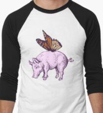 Butterpig Men's Baseball ¾ T-Shirt