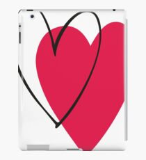 Red Ink Pen Love Hearts iPad Case/Skin