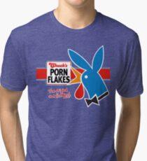 Porn Flakes Tri-blend T-Shirt