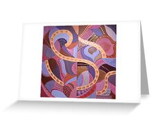 mapping purple Greeting Card