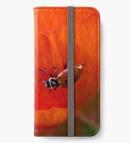 Es ist eine Marienkäferwelt iPhone Flip-Case