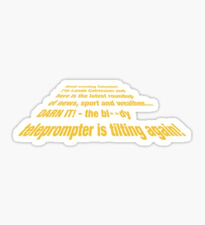 Teleprompter Sticker