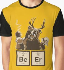Chemistry bear discovered beer Graphic T-Shirt