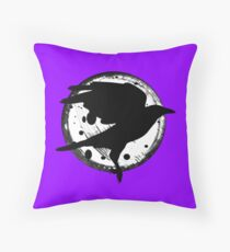 The Raven and the Moon Throw Pillow