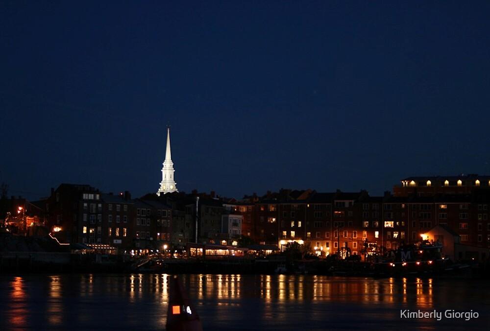 Portsmouth N.H. Night Scene by Kimberly Giorgio