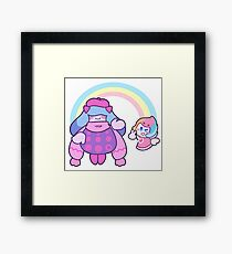 kirby and the rainbow curse Framed Print