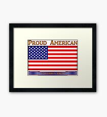 Proud American America Flag cup phone case etc Framed Print