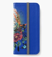 Vintage Music Microphone with Floral iPhone Wallet/Case/Skin
