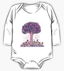 Abstract Tree Painting, Pink Floral art Kids Clothes