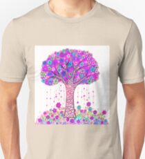 Abstract Tree Painting, Pink Floral art T-Shirt