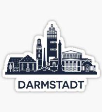 Darmstadt Skyline Emblem Sticker