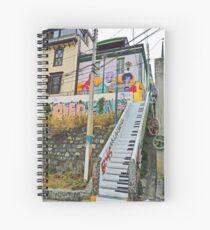 Keyboard Stairway Spiral Notebook