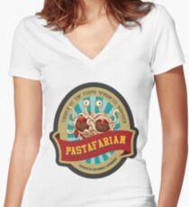 Pastafarian church Women's Fitted V-Neck T-Shirt