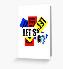 VW T25 Lets Go Greeting Card