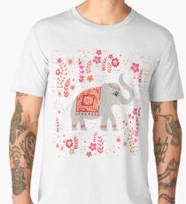 Elephants in the Flower Garden Men's Premium T-Shirt