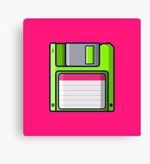 Retro - Diskette Canvas Print
