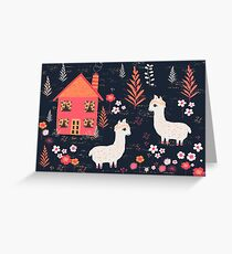 Mountain Chalet Alpacas Greeting Card