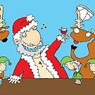 Drunk Santa by robotpower