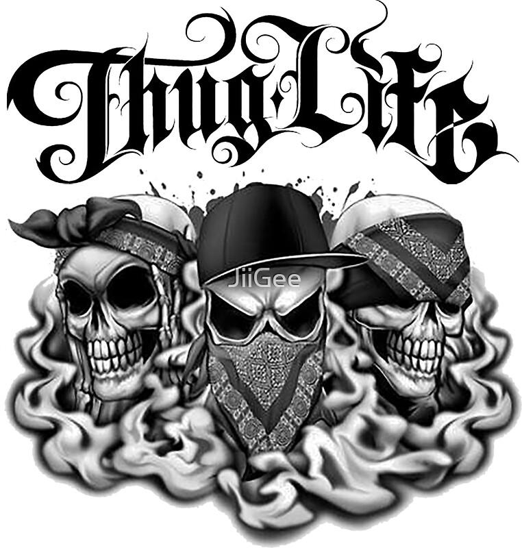 Thuglife hear no see no speak no evil by jiigee