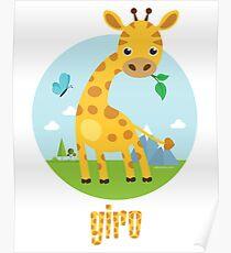 Giro the Giraffe Poster