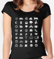 Traveling T-shirt With Icons for traveler Women's Fitted Scoop T-Shirt