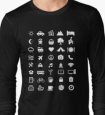 Traveling T-shirt With Icons for traveler Long Sleeve T-Shirt
