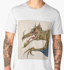 Fire Breathing Dragon illustration Men's Premium T-Shirt