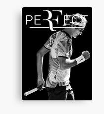 Roger Federer Perfect Canvas Print