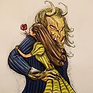 Beauty and the Beast illustration from the classic tale by Extreme-Fantasy