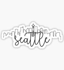 cityscape outline - seattle Sticker