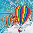 Bunte Heißluftballons von AnnArtshock