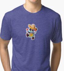 Mariachi skull Tri-blend T-Shirt