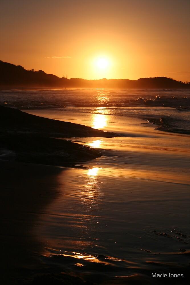Sunset over Stradbroke Island, Australia by MarieJones