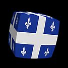 Quebec Flag cubed. by stuwdamdorp