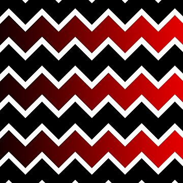 Zig Zag Me Black And Red by mindsgallery