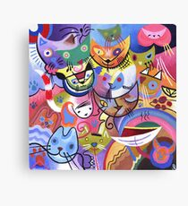 Kandinsky's Kats Canvas Print