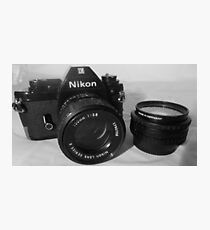 Nikon EM plus Lens Photographic Print