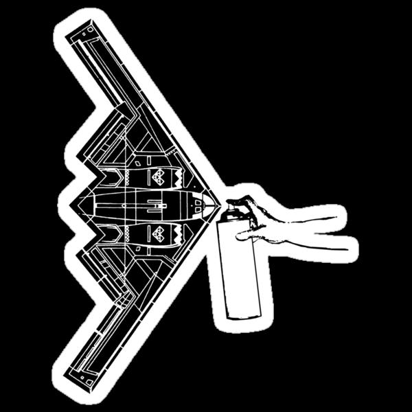 B-2 (Stealth Bomber) by nofrillsart