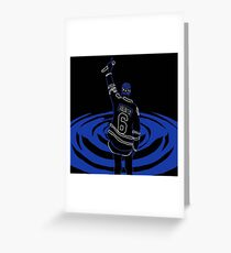 Justin Bieber Cold Water Drawing Greeting Card