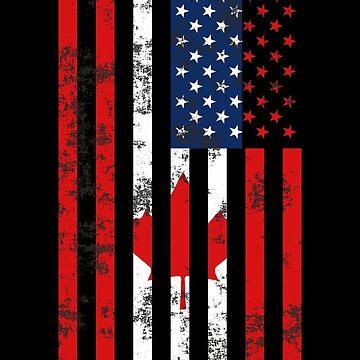 American Canadian Flag by birdeyes